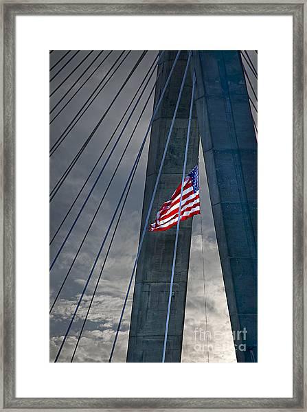 Zakim Bridge Boston Framed Print