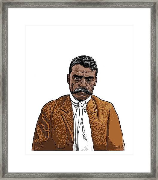 Framed Print featuring the digital art Zapata by Antonio Romero