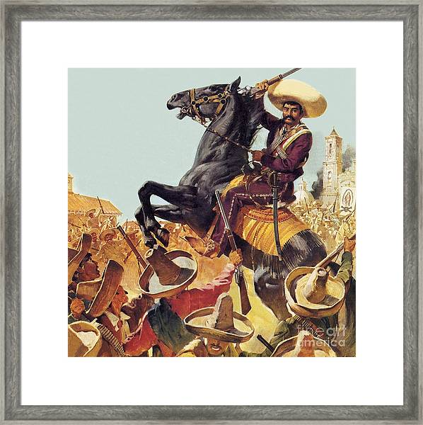 Zapata The Bandit Who Ruled Mexico Framed Print
