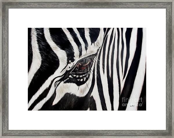 Zebra Eye Framed Print