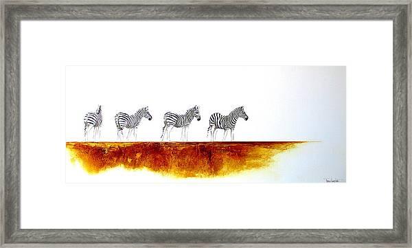 Zebra Landscape - Original Artwork Framed Print