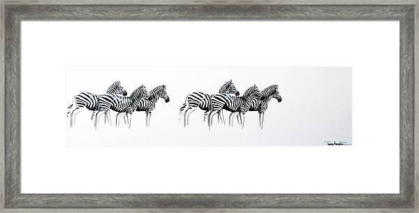 Zebrascape - Original Artwork Framed Print