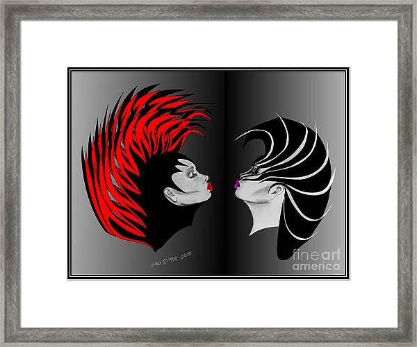 Zee Wild Framed Print