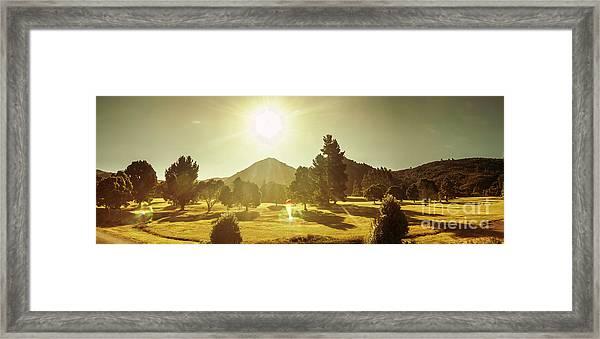 Zeehan Golf Course Framed Print