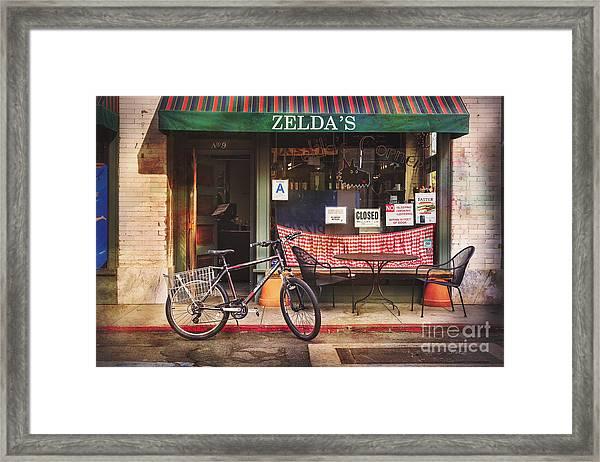 Zelda's Bicycle Framed Print