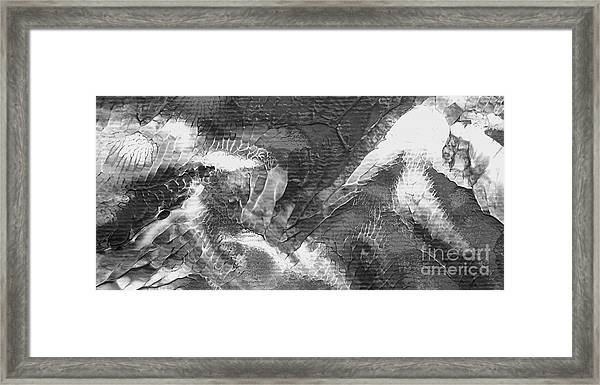 Zen Abstract A10115ajpg Framed Print