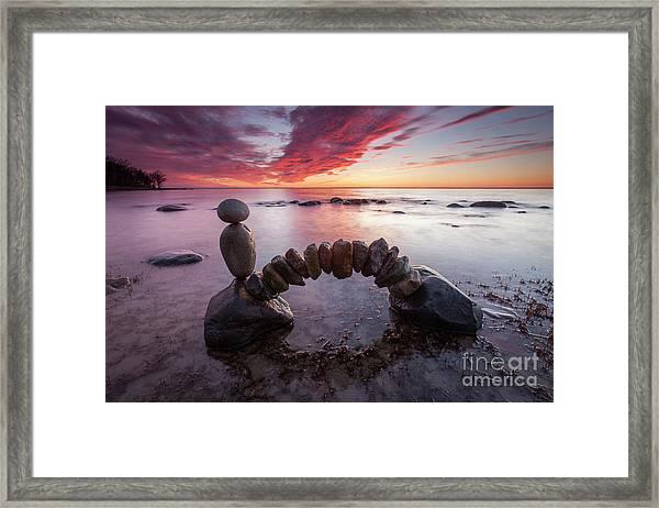 Zen Arch Framed Print
