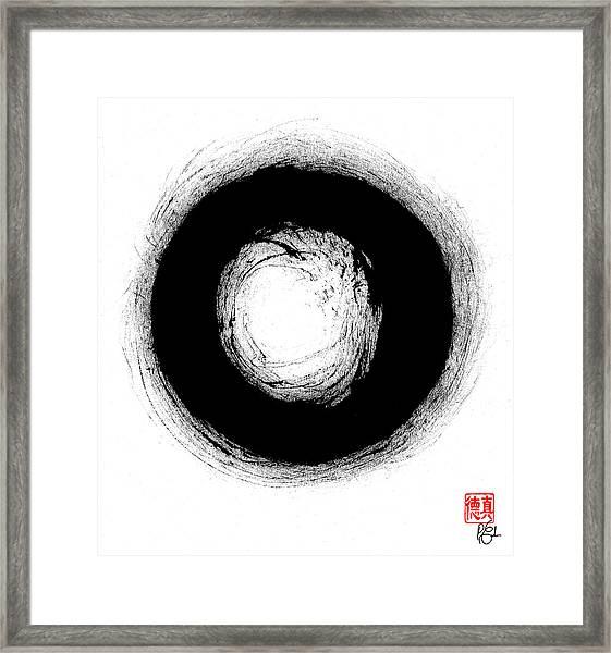 Bodhidharma's Enso Framed Print