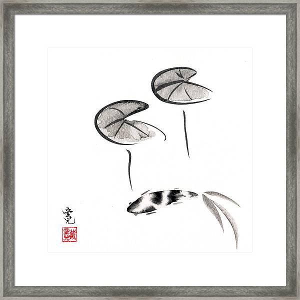 Zen Fish Painting Framed Print