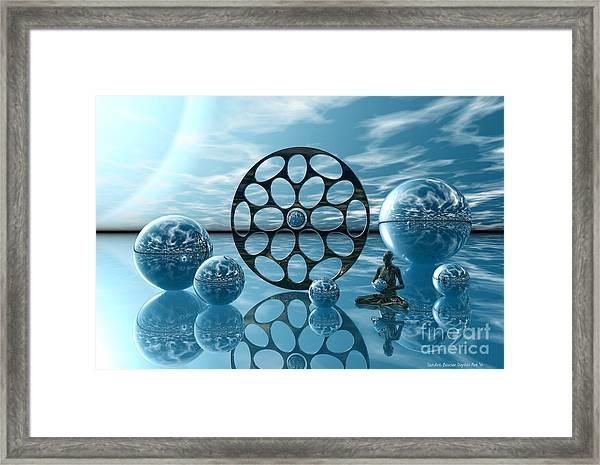 Framed Print featuring the digital art Zen Moment by Sandra Bauser Digital Art
