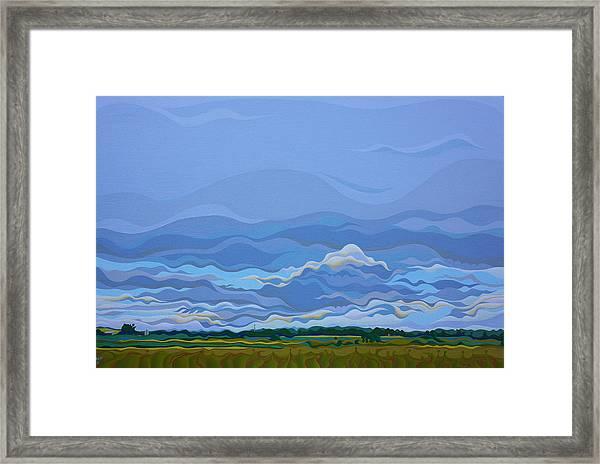 Zen Sky Framed Print