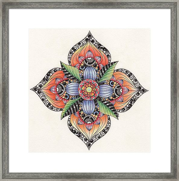 Zendala Template #1 Framed Print