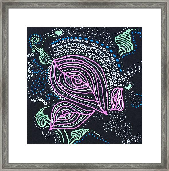 Zentangle Flower Framed Print