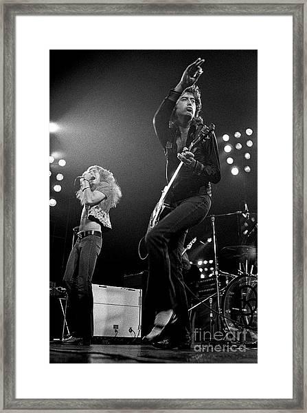 Zeppelin Rocks Framed Print