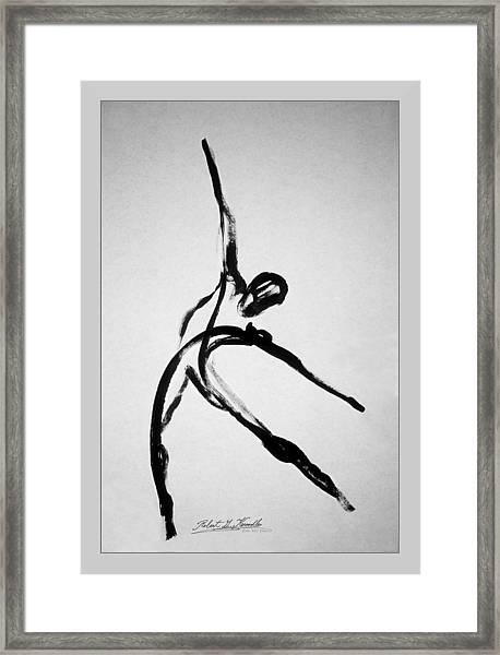 Zeta X6 Dancer Framed Print