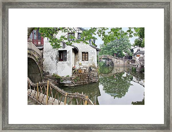 Zhouzhuang - A Watertown Framed Print