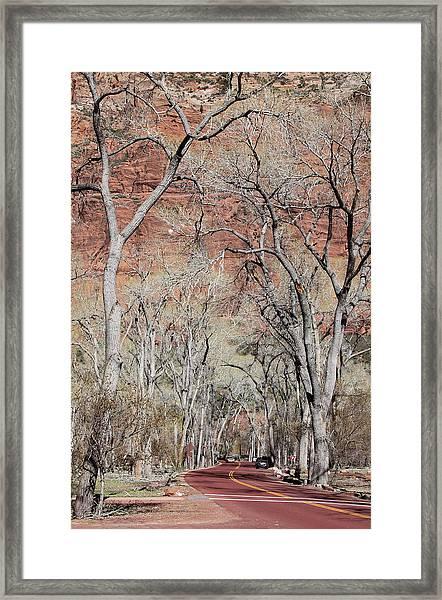 Zion At Kayenta Trail Framed Print