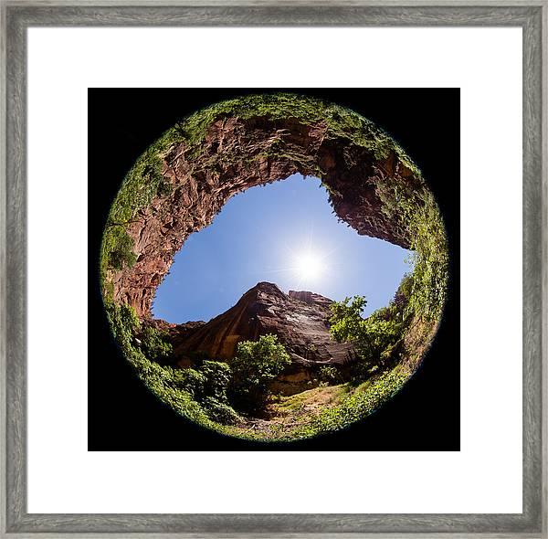Zion Fisheye 1464 Framed Print