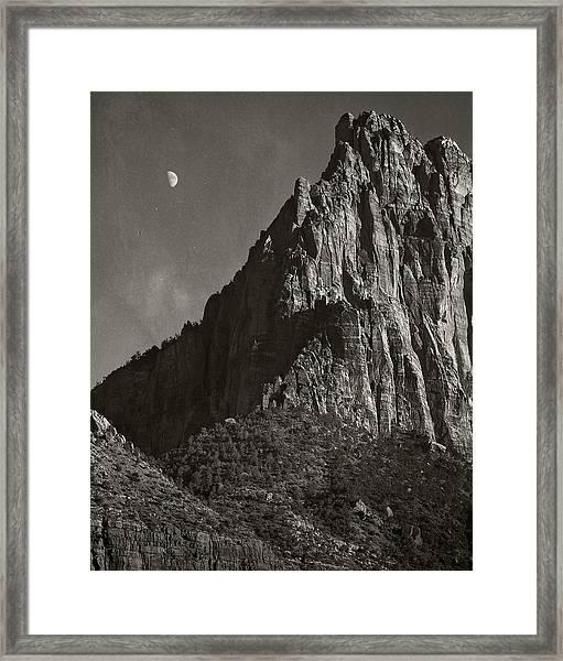Zion Moonrise Framed Print