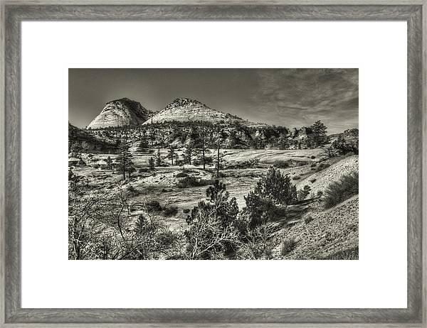 Zion National Park Along Rt 9 Framed Print