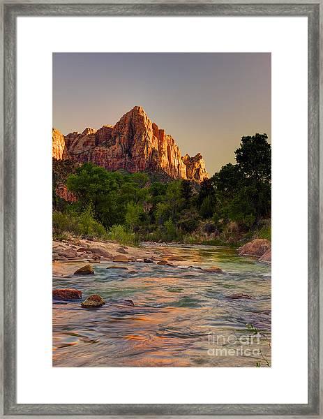 Zion Sunet Framed Print