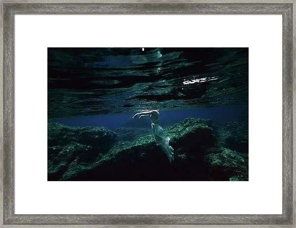 Zombie Mermaid Framed Print