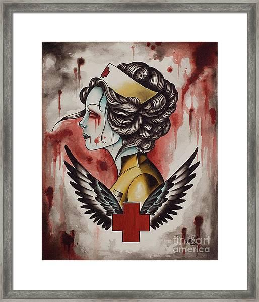 Zombie Nurse Framed Print