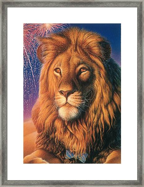 Zoofari Poster The Lion Framed Print