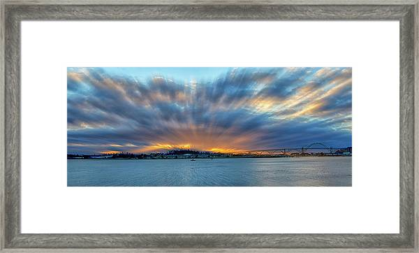 Zoomed Sunset Framed Print