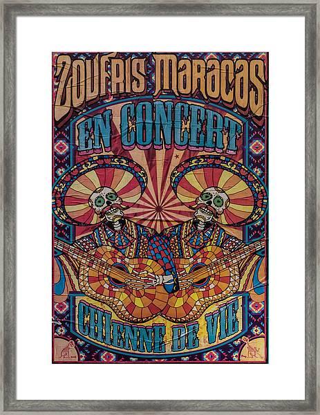 Zoufris Maracas Poster Framed Print