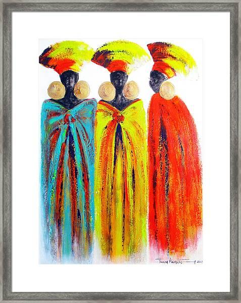 Zulu Ladies Framed Print