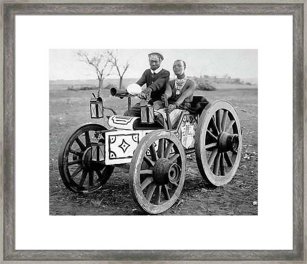 Zulu Motor Cab 1903 Framed Print