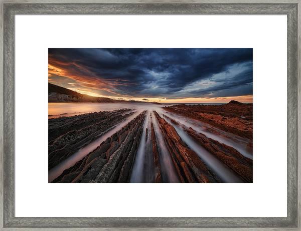 Zumaia Flysch 6 Framed Print by Juan Pablo De