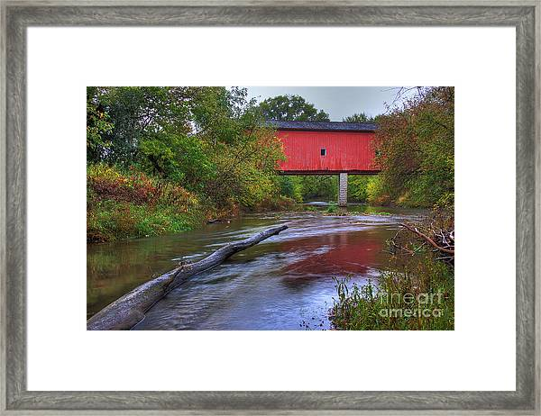 Zumbrota Minnesota Historic Covered Bridge 5 Framed Print