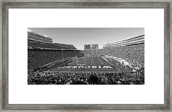 0095 Bw Camp Randall Stadium Framed Print