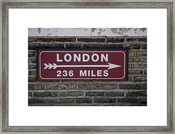 06/06/14 Settle. Station View. Destination Board. Framed Print