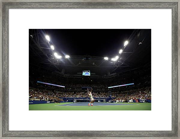 2015 U.s. Open - Day 4 Framed Print by Al Bello