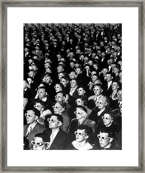3-d Movie Viewers. Formally-attired Audi Framed Print