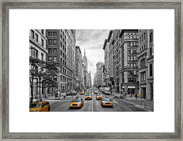 5th Avenue Nyc Traffic Framed Print