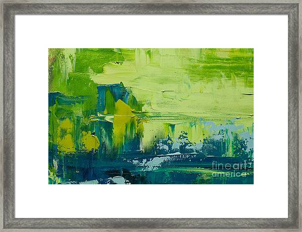 Abstract Art  Background. Oil Painting Framed Print