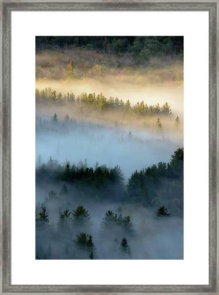 Adirondack Fog Framed Print