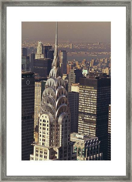 Aerial View Of The Chrysler Building Framed Print