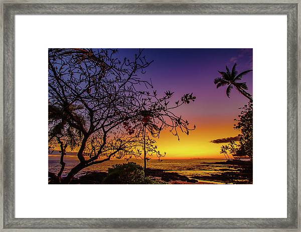After Sunset Colors Framed Print