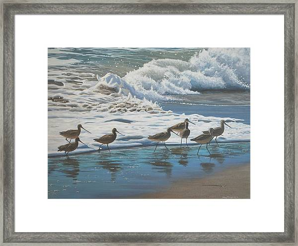 Afternoon Surf Framed Print