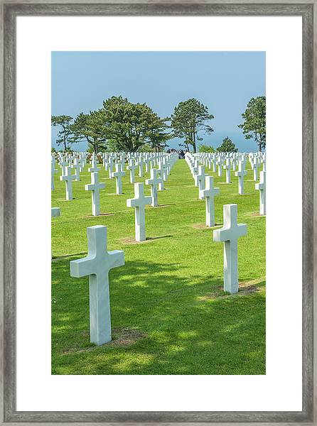 American Cemetery, Colleville Framed Print by Jim Engelbrecht