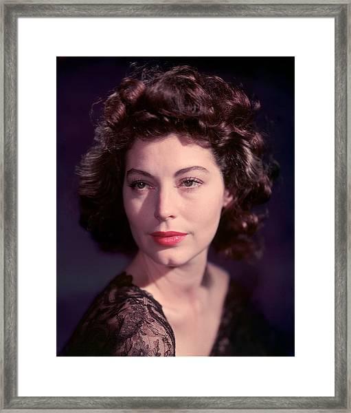 Ava Gardner Framed Print by Baron