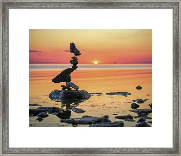Balancing Art #6-2 Framed Print