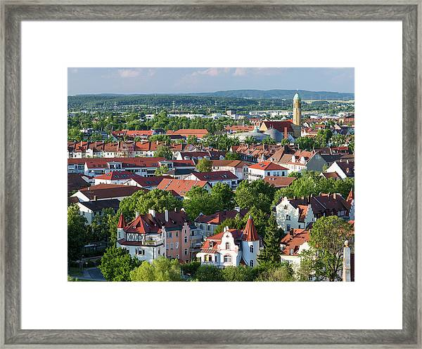 Bamberg In Franconia, A Part Of Bavaria Framed Print by Martin Zwick