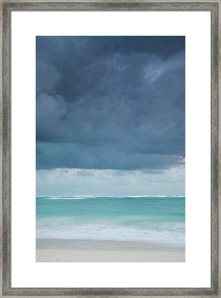 Beach At Dawn, Bavaro, Punta Cana Framed Print