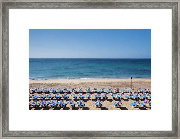 Beach At Puerto Del Carmen Framed Print